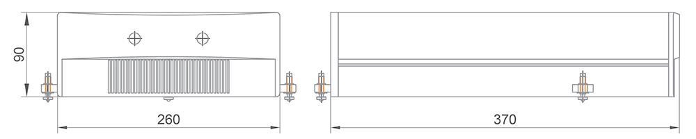Габаритные размеры двухимпульсного DPSS лазера DF251