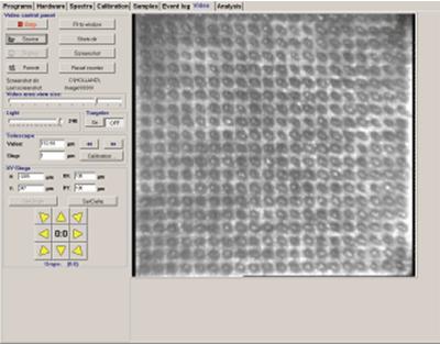 Анализ зеркальной поверхности, площадь 2х2 мм с шагом 100 мкм, 400 точек