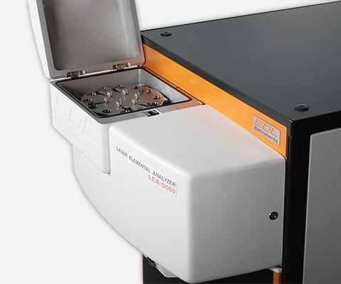 Sample chamber of the laser elemental analyzer LEA-S500