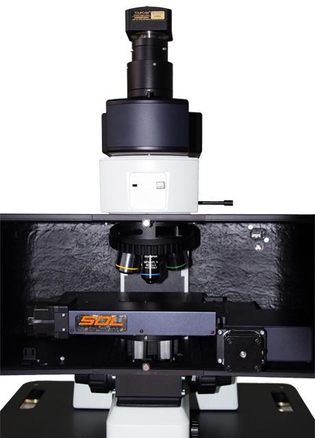 Микроскоп Confotec Duo в открытом виде