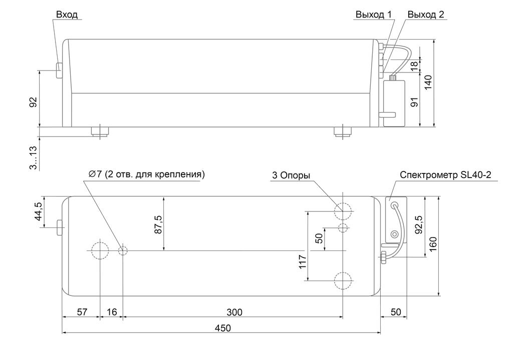 Габаритные размеры COPO2200