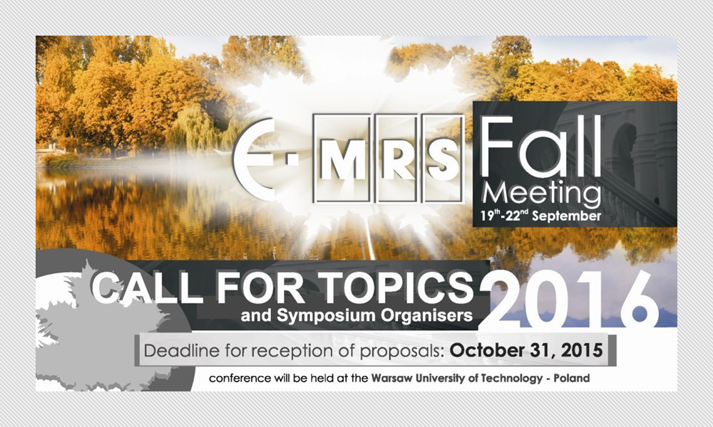 2016 E-MRS Fall Meeting and Exhibit