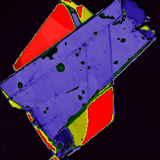 Карта комбинационного рассеяния графеновых слоев