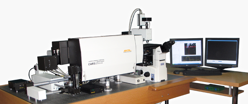 Microscope-spectrometer Confotec CARS