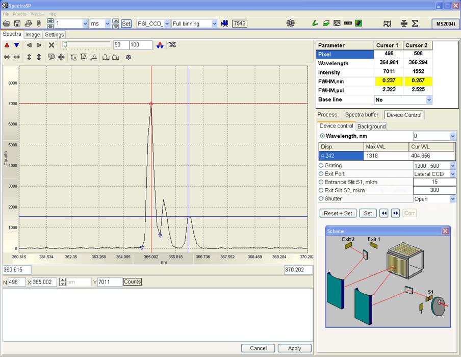 Спектроскопическая программа SpectraSP