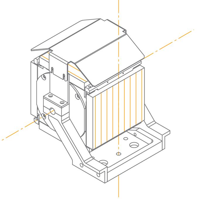 Автоматизированная турель монохроматора-спектрографа MS750