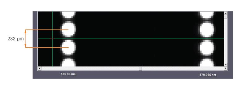 Увеличенный фрагмент изображения полученного на MS7504i