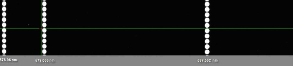 Изображение полученное на монохроматоре-спектографе MS7504i с компенсацией астигматизма