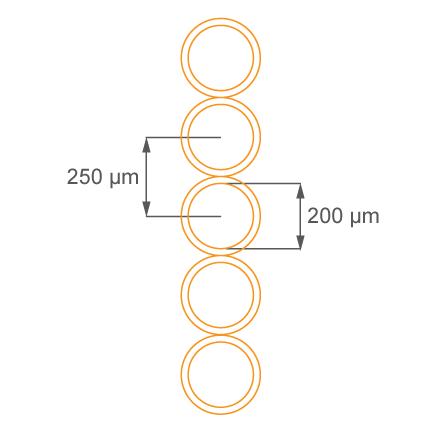 Многоволоконный световод с диаметром волокон 200 мкм