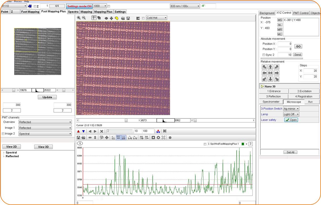 Быстрое панорамное картирование протяженного образца