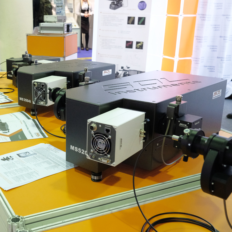 SOL instruments company exhibition stand at Photonics 2018