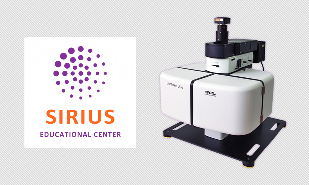 Presentation of the Confotec® Duo microscope at the Sirius Educational Center in Sochi