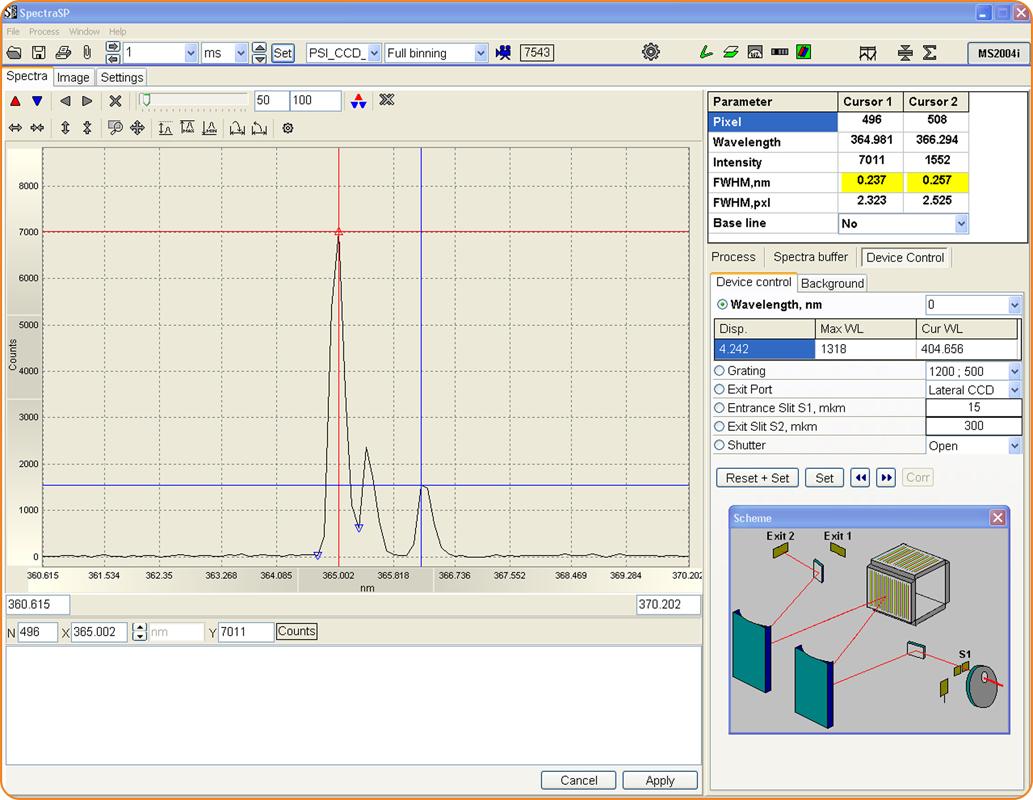 SpectraSP - удобный интерфейс