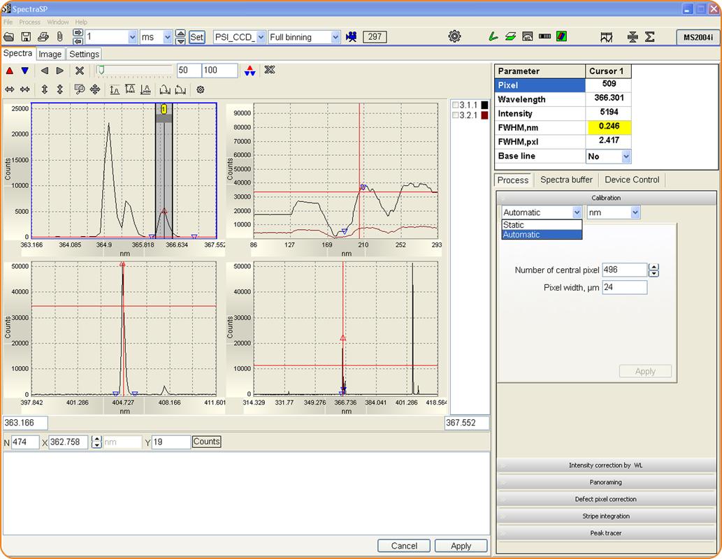 SpectraSP: расширенная работа со спектрами